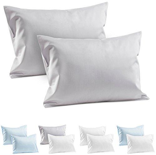 2 Grey Toddler Pillowcases 100 Cotton Sateen Toddler