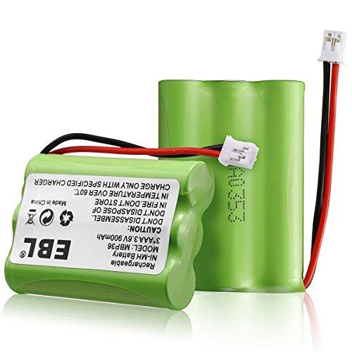 2 Pack EBL TFL3X44AAA900 Motorola Baby Monitor Batteries 3.6V 900mAh Ni-MH for Motorola MBP36 MBP27T MBP33 MBP33S MBP33PU MBP36S MBP36PU