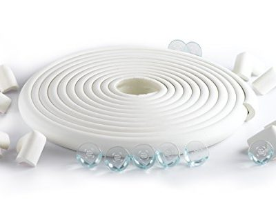 232ft-Long-Set-16-Corner-Guards-SafeBaby-Child-Safety-baby-proofing-edge-with-clear-protective-bumpers-for-furniture-Cushion-foam-strip-brick-pad-childproof-fireplace-guard-for-toddlersOff-white-0