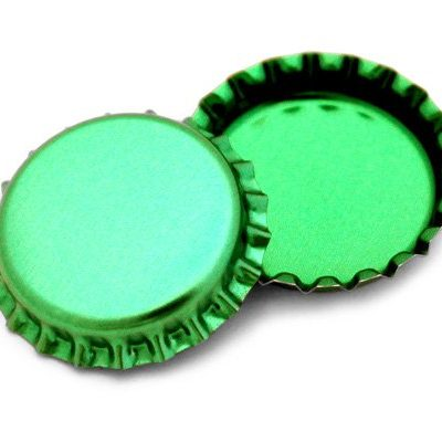 50-Green-Metallic-Bottle-Caps-Shiny-Colors-Craft-Linerless-0