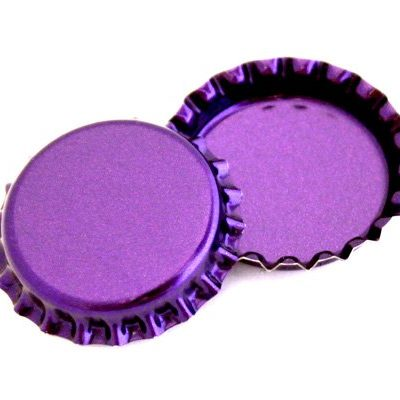 50-Purple-Metallic-Bottle-Caps-Shiny-Colors-Craft-Linerless-0