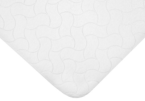 American Baby Company Waterproof Flat Multi Use Protective Pad Cover, White