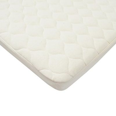 American-Baby-Company-Waterproof-Quilted-Bassinet-Mattress-Pad-Cover-made-with-Organic-Cotton-Natural-Color-0