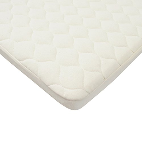 American Baby Company Waterproof Quilted Bassinet Mattress Pad Cover made with Organic Cotton, Natural Color