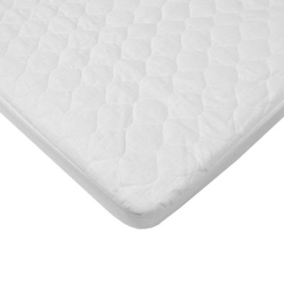 American-Baby-Company-Waterproof-Quilted-Cotton-Bassinet-Size-Fitted-Mattress-Pad-Cover-White-0