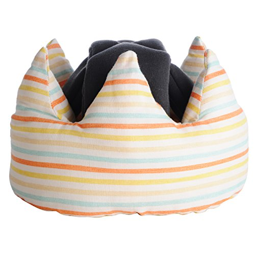 Angerolux Crown Baby Helmet for Crawling and Toddling Yellow Border Made in Japan