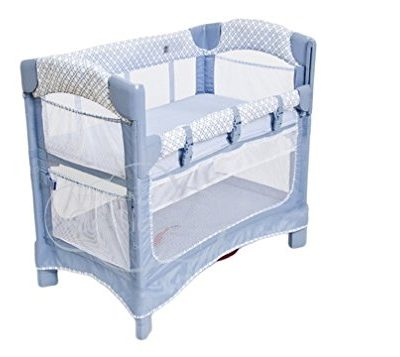 Arms-Reach-Concepts-Mini-Ezee-3-in-1-Bedside-Bassinet-Periwinkle-PaneBlue-0