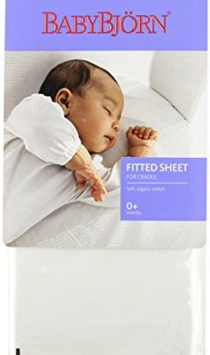 BABYBJORN-Fitted-Sheet-for-Cradle-Organic-White-0