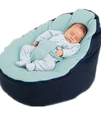 BAOJUN Portable baby feeding lazy sofa baby cradle bed removable pickan bag seat comfortable green small bed