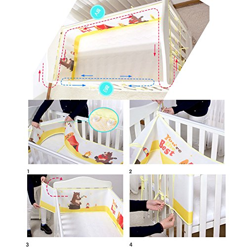 Baby 3D Breathable Mesh Crib Liner Bumpers,H