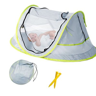 Baby-Beach-Tent-Portable-Baby-Travel-Bed-UPF-50-Sun-Shelters-for-Infant-Pop-Up-Mosquito-Net-with-2-Pegs-Sunshade-Ultralight-Weight-0
