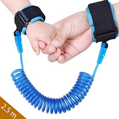 Baby-Child-Anti-Lost-Safety-Wrist-Link-Harness-Strap-Rope-Backpack-Leash-Walking-Hand-Belt-Band-Wristband-for-Toddlers-Kids25m-Blue-0