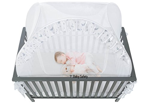 Baby Crib Tent Safety Net Pop Up Canopy Cover Never