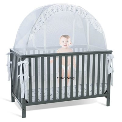 Baby-Crib-Tent-Safety-Net-Pop-Up-Canopy-Cover-Never-Recalled-0