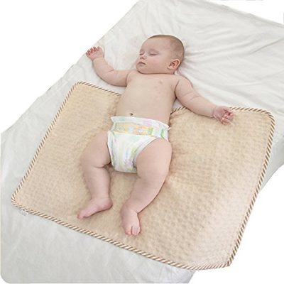Baby-Diaper-Changing-PadUrine-Pee-Pads-MatWaterproofBreathableAbsorbentUltra-SoftReusable-Fit-Pack-N-Play-BedBeddingCrib-Mattress-Pad-Sheet-Protector-Bedwetting-Incontinence-Underpad-L-0