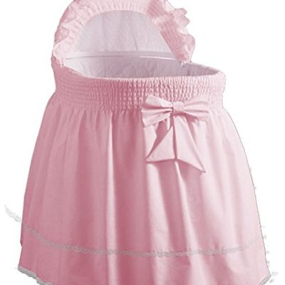 Baby-Doll-Bedding-Classic-Sea-Shell-Bassinet-Bedding-for-girlpink-0