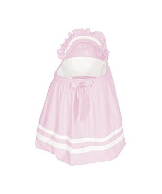Baby-Doll-Bedding-Modern-Hotel-Style-Bassinet-Liner-Pink-0