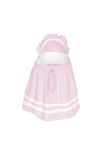 Baby Doll Bedding Modern Hotel Style Bassinet Liner, Pink