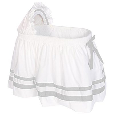Baby-Doll-Bedding-Modern-Hotel-Style-II-Bassinet-Skirt-Grey-0