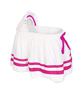 Baby-Doll-Bedding-Modern-Hotel-Style-II-Bassinet-Skirt-Hot-Pink-0
