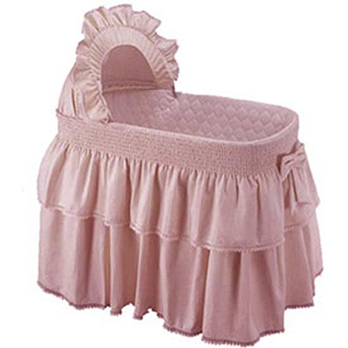 Baby Doll Bedding Paradise Rainbow Bassinet Bedding for girly, Pink