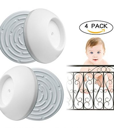 Baby Gate Wall Protector 4 Pack,Protect The Walls From Damage,Make Pressure Mounting Gates More Stable and Sturdy,BY William's Home