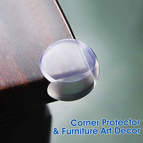 Baby Mate 8 PCS Ball Shape Clear Furniture Corner Protectors ...