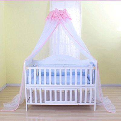 Baby-Mosquito-Net-Baby-Toddler-Bed-Crib-Dome-Canopy-Netting-butterfly-white-0
