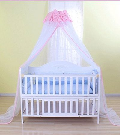 Baby Mosquito Net Baby Toddler Bed Crib Dome Canopy Netting (butterfly white)