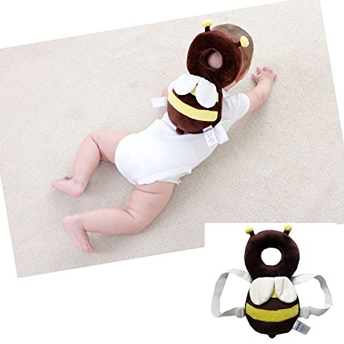 Baby Protector - Baby Adjustable Pad - Baby Head Shoulder Cushion with Flexible Strap for Baby walking - for Baby Safety - for Crawling Baby - 4-24 Months Babies(bee)