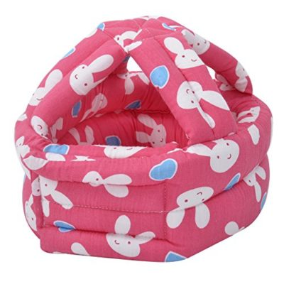Baby-Safety-Helmet-Adjustable-Printed-Head-Guard-Head-ProtectorHot-Pink-Rabbit-0-2