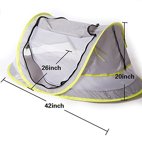 Baby ...  sc 1 st  Baby Cribbed & Baby Travel Bed Portable baby beach tent UPF 50+ Sun Shelter ...