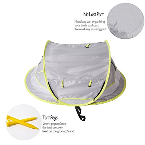 Baby Travel ...  sc 1 st  Baby Cribbed & Baby Travel Bed Portable baby beach tent UPF 50+ Sun Shelter ...