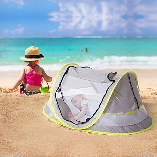 Baby Travel Bed Portable baby beach tent ...  sc 1 st  Baby Cribbed : beach tent pegs - memphite.com