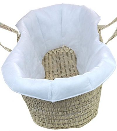 BabyPrem Baby Moses Basket Quilted Liner for Comfort and protection 73-78 x 28cm