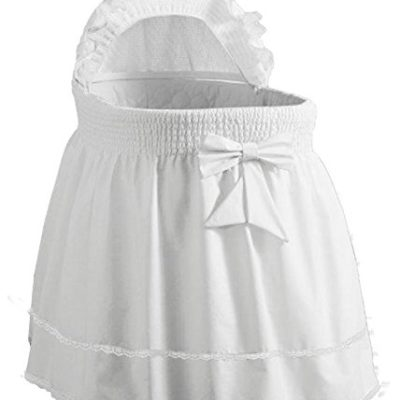 Babydoll-Bedding-Precious-Liner-SkirtHood-White-17-x-31-0
