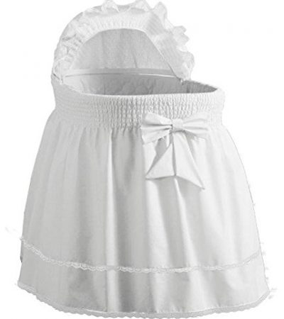 "Babydoll Bedding Precious Liner SkirtHood, White, 17"" x 31"""