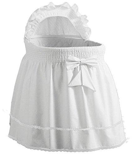 "Babydoll Bedding Precious Liner SkirtHood, White, 17"" x 31"""