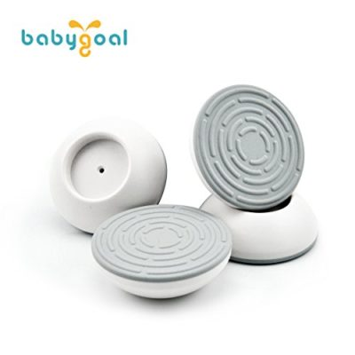 Babygoal-Wall-Guards-4-pack-Gate-Wall-Guard-for-Baby-Gate-Pressure-Mount-Wall-Guard-Cups-Wall-Guard-Pads-Perfect-for-Child-Pet-Pressure-Safety-Gates-WGF01-0