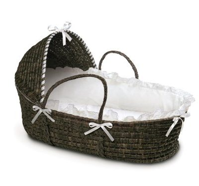 Badger-Basket-Moses-Basket-with-Hood-and-Bedding-EspressoWhite-0