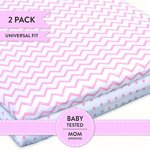 Kenley Pack N Play Playard Sheet Set 2 Fitted Sheets For