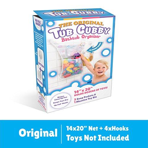 "Bath Toy Organizer -The Original Tub Cubby - Large 14x20"" Quick ..."