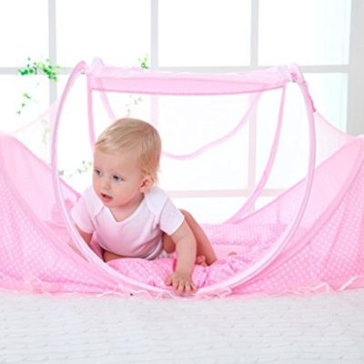 Bersun-Travel-Crib-Baby-Tent-Baby-Bed-Instant-Pop-Up-Portable-Baby-Travel-Bed-With-Mosquito-Net-With-Pad-0