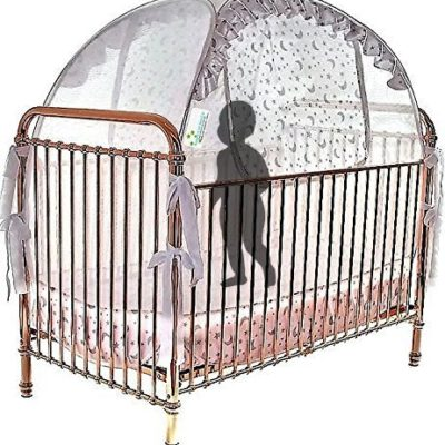 Best-Baby-Crib-Safety-Net-Tent-Tried-and-Tested-Safe-and-Secure-Proven-to-Keep-Your-Baby-Safe-from-Climbing-Out-Finest-Quality-Original-Australian-Design-Pop-Up-Crib-Canopy-Cover-Easy-Assembly-0