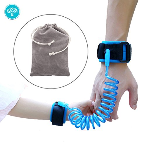 """Child Anti Lost Wrist Link With Breathable Cotton Straps ,Double Layer Safety Velcro for Toddlers, Babies & Kids 59"""" by Murtoo (Blue)"""