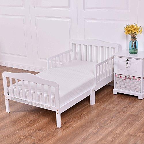 Costzon Wood Kids Bedframe Toddler Children Sleeping ...