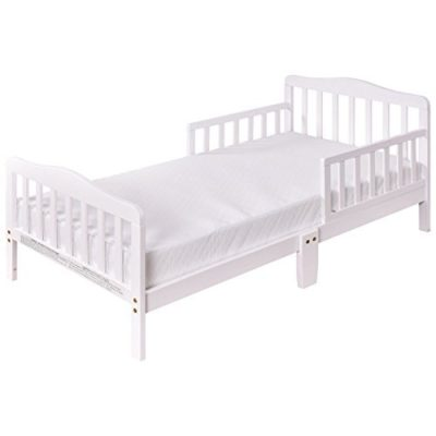 Costzon-Wood-Kids-Bedframe-Toddler-Children-Sleeping-Bedroom-Furniture-wSafety-Rail-Fence-White-0