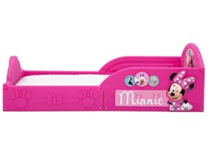 Delta Children Deluxe Disney Minnie Mouse Toddler Bed With Attached Guardrails