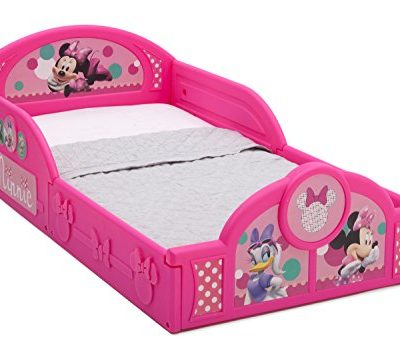 Delta-Children-Deluxe-Disney-Minnie-Mouse-Toddler-Bed-with-attached-guardrails-0