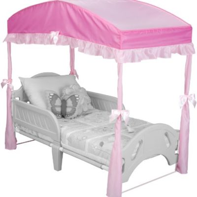 Delta-Children-Girls-Canopy-for-Toddler-Bed-Pink-0